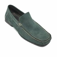 Men's Bostonian Loafers Moccasins Shoes Size 10.5 M Green Leather Slip On AJ7