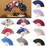 Fashion Chinese Style Hand Held Fan Bamboo Paper Folding Fan Party Decor AU