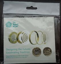 More details for 2017 royal mint £1 coin pack farewell and nations of the crown 2 coin set