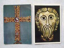 MEDIEVAL ART-X-XI Centuries, 2 postcards