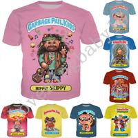 Women Men Cartoon Garbage Pail Kids 3D Print T-ShirtCasual Short Sleeve Tops