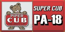 Piper Super Cub Airplane Aircraft Vintage Old Sign Remake Banner Garage Art 2X4