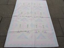 Old Traditional Hand Made Indian Dari Oriental Blue Pink Cotton Kilim 183x124cm