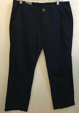 NEW Mens JCPenney Navy Blue Flat Front Ultimate Khaki Pants Size 34x29