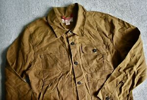 FILSON 10410 Tin Cloth Short Unlined Cruiser Jacket Coat Made in USA Size L