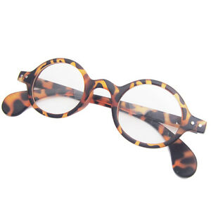 Beison Oval Round Retro Round Leopard Tortoise Shell Eyeglass Frame Clear Lens