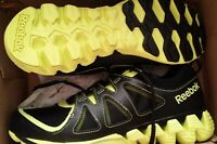Men Reebok Zigteck Zigkick Black & Yellow Running Shoes 10.5 2K15 New Rare