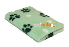 Tapis Confortbed Vetbed Dry Extra vert motif pattes blanches et vertes,26 mm 50x