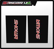 MX UPPER FORK GRAPHICS DECALS SHOWA BLACK CR KX KTM YZ HUSKY TM 125 250 350 450