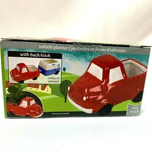 Red Truck Planter Country Farmhouse Tier Tray Home Decor Air Plants Succulents