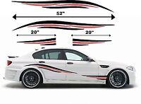 For Any Car VW HONDA BMW AUDI FORD SKODA - 2 Colour Side Stripes  Decal Sticker