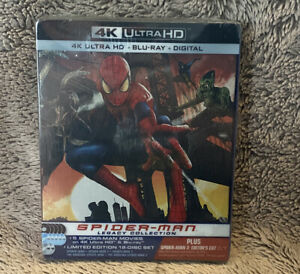 Spider-Man Legacy Collection 4K Ultra HD/Blu-ray/digital Steelbook Limited New