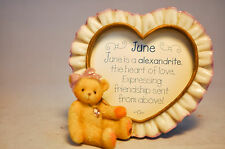 Cherished Teddies: June Birthstone Photo Heart - 311642A