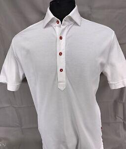 Rare Bellucci Napoli Premium Italian Short Sleeve Knit Polo Shirt - Medium
