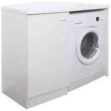 Coprilavatrice 110x60 cm destro mobile proteggi lavatrice bianco con lavapanni