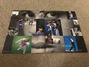 "Vintage ""I AM TIGER WOODS"" NIKE GOLF Poster Print Ad 1990s 1996 RARE"
