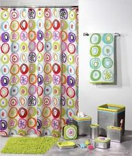 Creative Bath All That Jazz Retro 60's Starburst Fabric Shower Curtain Floral Nw