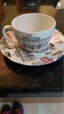 Cath Kidston Mickey in London cup and saucer