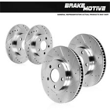 For Front And Rear Premium Brake Rotors For 2013 - 2016 Ford Fusion Lincoln MKZ