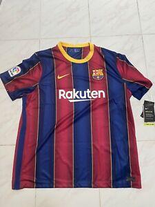 New Nike FC Barcelona Barca Home Soccer Jersey 2020-21 CD4232-456 Men's Size XXL