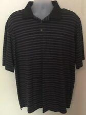Pebble Beach Mens Sz XXL Performance Polo Shirt Golf Short Sleeve Striped 2XL