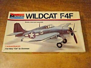 Monogram, F4F Wildcat, 1/48, 1973, Military Aircraft Kit, unbuilt