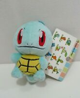 "Squirtle Pokemon Center Walky Keychain Mascot Charm Plush 5"" TAG Toy Doll Japan"