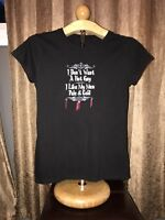 womens black tshirt vampire themed size medium b10 5z