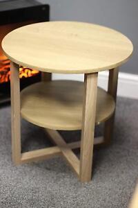 3 x Side Hall Table Lamp Plant Console Tall Coffee Wine Hallway Furniture OAK