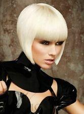Modern Stylish Short Womens Bob Cool Straight Bleach Platinum Blonde Wig