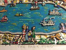 """James RIZZI: original 3D """"THE PARK POND"""", handsigniert, von 1984 - VERGRIFFEN"""