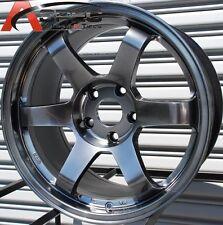 17X9 +30 ROTA GRID 5X100 HYPER BLACK WHEELS Fits Celica CorollaWrx Brz FR-S