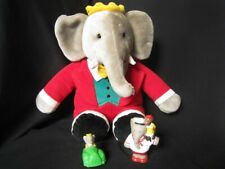 GUND: BABAR 1998 Red Suited Elephant + Babar Toys : Excellent Condition