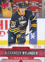 17-18 Upper Deck Overtime Alexander Nylander /99 Rookie RED Parallel Sabres 2017