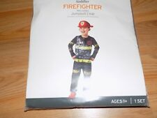 Size 18-24 Months Firefighter Fire Chief Halloween Costume Jumpsuit & Hat New