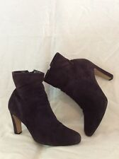 Dolcis Purple Ankle Suede Boots Size 5