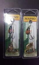 2x PACKETS Mapso Saja Trout Spinner Twin Pack NEW 2018 COLOR #1 Celta Style