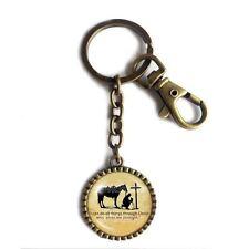 PRAYING COWBOY Keychain Key Chain Key Ring Keyring Car Cross Horse Christian