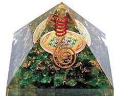 Orgonit-Pyramide-Malachit Lebensbaum Energiespirale- AGNIHOTRA 406