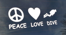 Peace Love Dive Decal