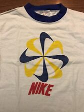 RARE Vintage 70's/ 80's Nike Pinwheel Orange Tag Ringer T-shirt - Medium