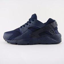 New Womens Nike Air Huarache Run Triple Blue Trainers UK 5.5 Kids 654275 403 BNB