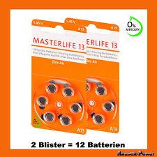 "Masterlife H�–RGER�""TEBATTERIEN Typ13, H�–RGER�""TE BATTERIE, PR48, A13, Mercury Free"