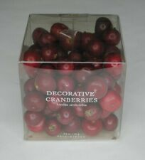 POTTERY BARN Decorative Cranberries  Vase Filler Christmas Decoration red 3.2 oz