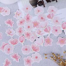 45 pcs Cherry sakura words bullet journal decorative stickers adhesive stick xj