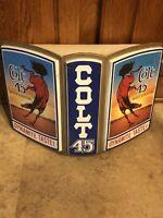 Vintage 1960s COLT 45 MALT LIQUOR Beer Brewery Bronco Advertising Sign