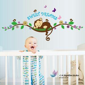 Removable Monkey/Butterfly/Bird/Flower/Tree/nursery children's/baby wall sticker