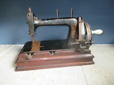 Antique 1890's Gritzner Saxonia Model H sewing machine rectangular base