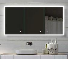 Alu Badschrank badezimmer spiegelschrank bad LED Beleuchtung 140x70cm SAC140H70