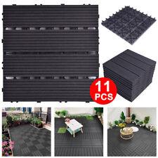 More details for 11pcs decking tile plastic wpc garden floor interlocking patio composite 30x30cm